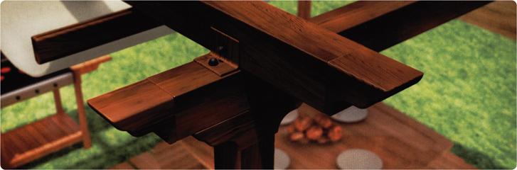 pm94 pérgola imitación madera la estrella